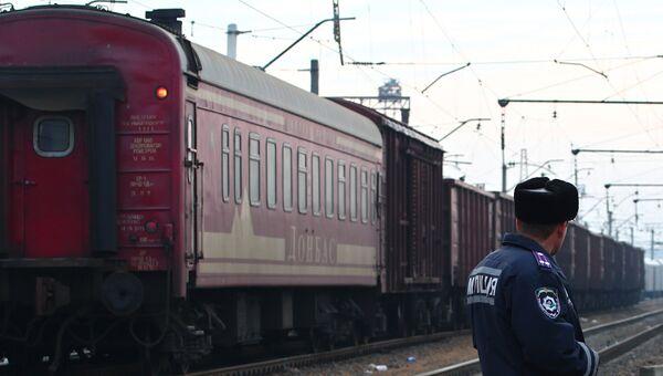 Поезд на Украине. Архивное фото