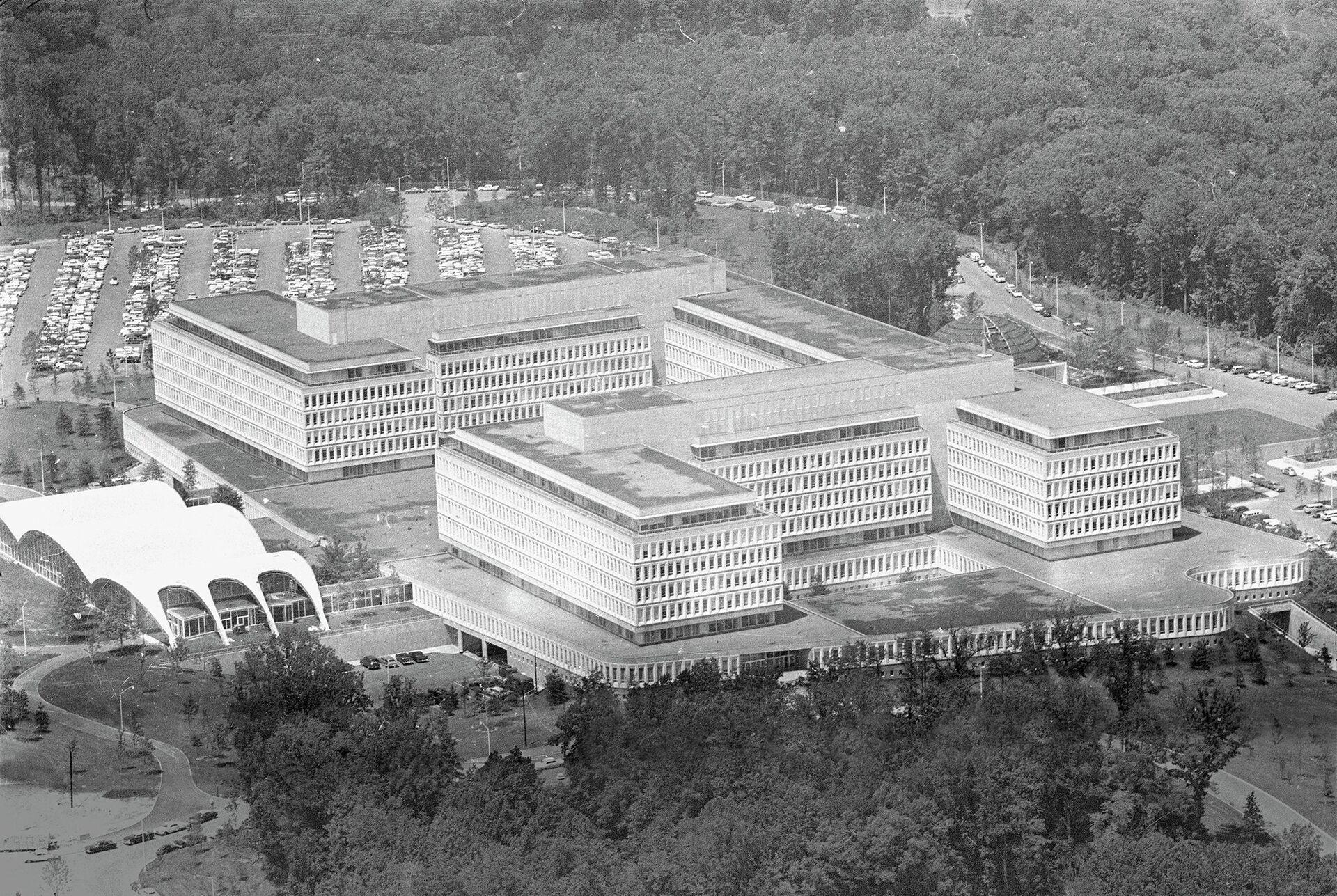 Вид на штаб-квартиру ЦРУ, США. 1962 год - РИА Новости, 1920, 29.04.2021