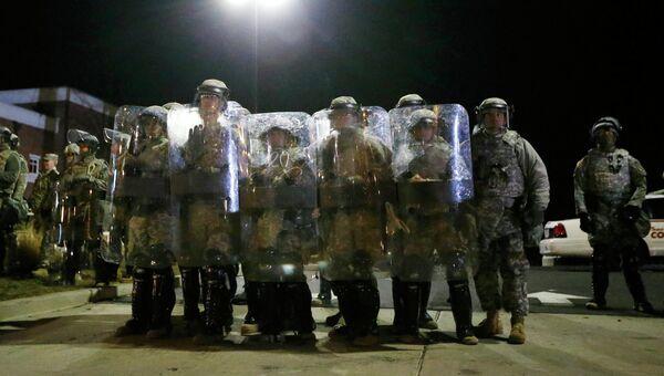 Бойцы Национальной гвардии в Фергюсоне