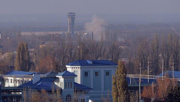 Вид на здание аэропорта Донецка из Куйбышевского района города. Архивное фото