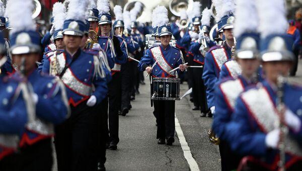 Участники парада в День Благодарения. Нью-Йорк, 27 ноября 2014
