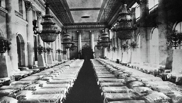Палата для раненых офицеров в Зимнем дворце
