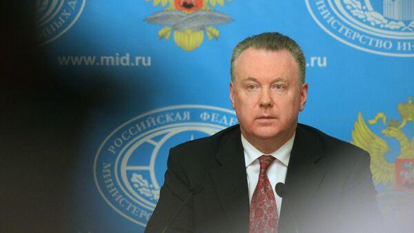 Официальный представитель министерства иностранных дел Российской Федерации Александр Лукашевич. Архивное фото