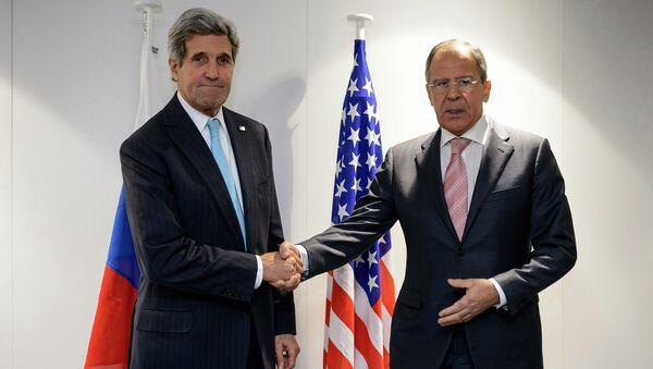 Министр иностранных дел Сергей Лавров и госсекретарь США Джон Керри. Архивное фото