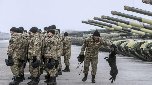 Военнослужащие украинской армии, архивное фото