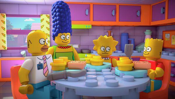 Герои мультсериала The Simpsons в виде игрушек Лего