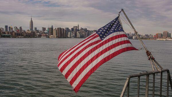 Вид на Манхэттен. США. Архивное фото