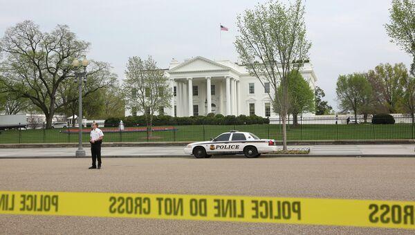 Территория перед зданием Белого дома в Вашингтоне