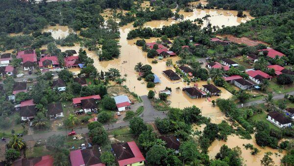 Последствия наводнения в Малайзии