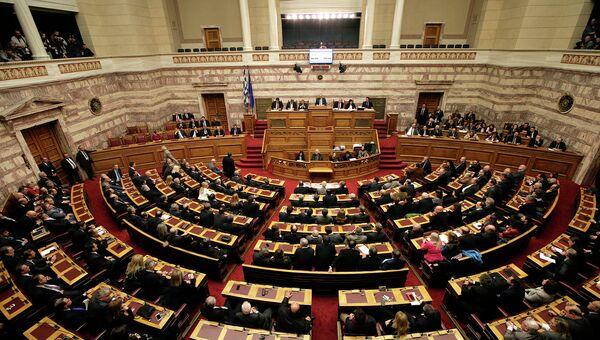 Парламент Греции в Афинах. 17 декабря 2014