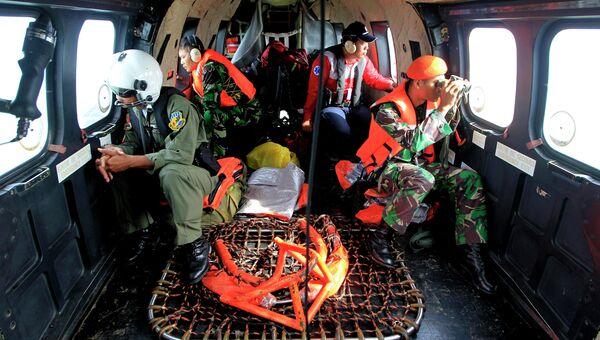Поисковая операция на месте крушения Airbus в Индонезии