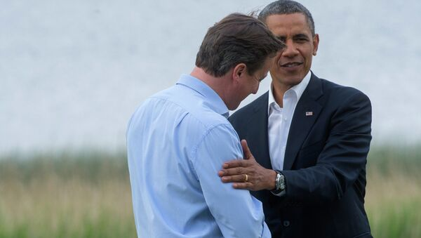 Премьер-министр Великобритании Дэвид Кэмерон и президент США Барак Обама, архивное фото