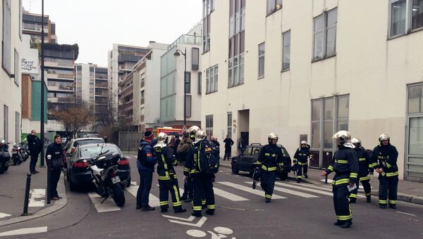 Вблизи офиса издания Charlie Hebdo
