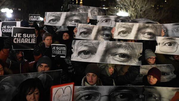 Акция в память о жертвах нападения на редакцию журнала Charlie Hebdo в Париже. Архивное фото