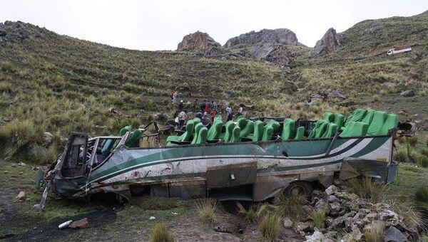 На месте ДТП с автобусом в Перу
