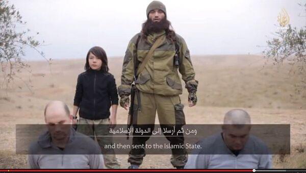 Скриншот видеоролика al-Hayat Media Center, распространенного в интернете