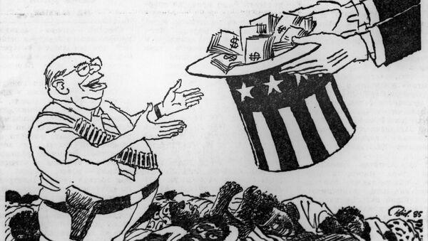 30 лет спустя политическая карикатура на американскую администрацию не теряет своей актуальности