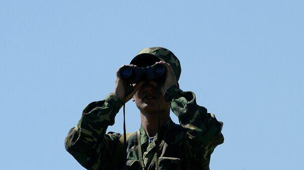 Киргизский пограничник. Архивное фото