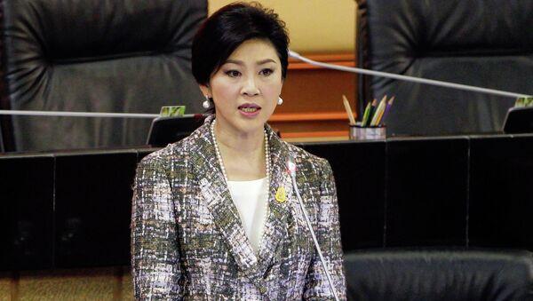 Бывший премьер Таиланда Йинглак Чиннават выступает с заключительным словом в деле о ее импичменте. 22 января 2015