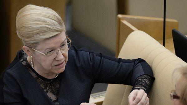 Председатель комитета ГД по вопросам семьи, женщин и детей Елена Мизулина. Архивное фото