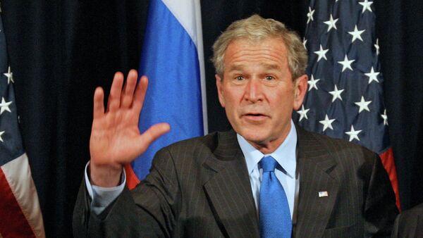Президенты США и России Джордж Буш и Дмитрий Медведев (слева направо)