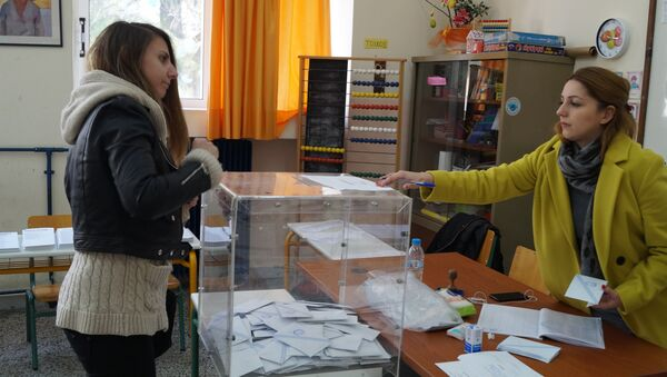 Голосование на парламентских выборах в Греции. Архив