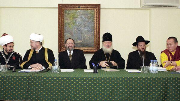 Члены Президиума Межрелигиозного совета России. Архивное фото