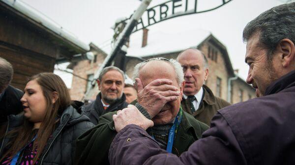 Мероприятие, посвященное 70-летию освобождения концентрационного лагеря Аушвиц-Биркенау, в Освенциме