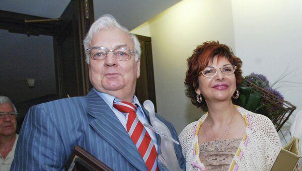 Актер Михаил Державин с супругой Роксаной Бабаян
