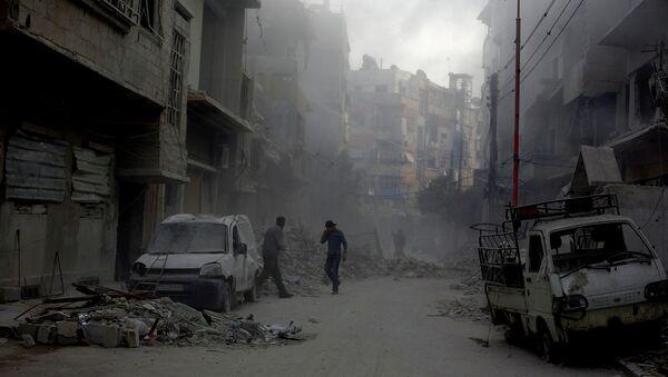 Разрушенные улицы Дамаска, архивное фото