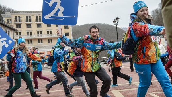 Слет олимпийских волонтеров в Сочи. Архивное фото