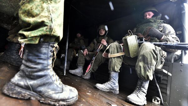 Ополченцы под Углегорском. Архивное фото