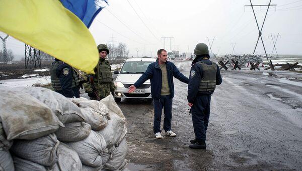 КПП украинских вооруженных сил. Архивное фото