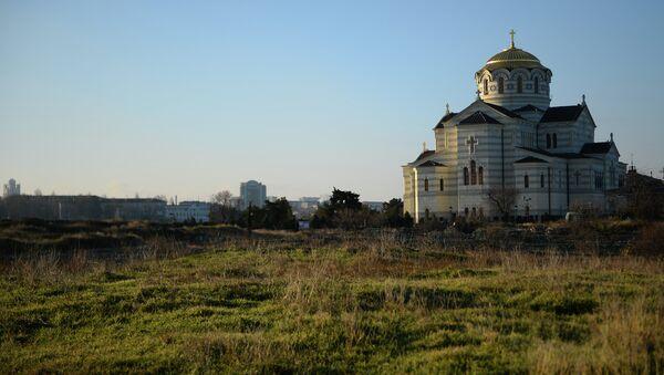 Собор Святого Владимира на территории национального заповедника Херсонес Таврический в Севастополе