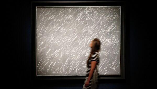 Картина Без названия (Нью-Йорк) американского абстракциониста Сая Твомбли