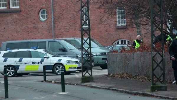 Полиция на месте стрельбы в Копенгагене