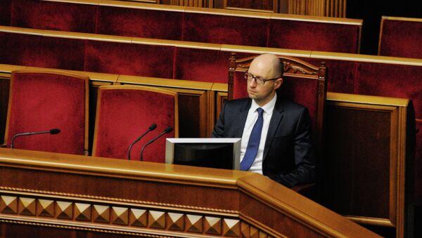Премьер-министр Украины Арсений Яценюк в Раде
