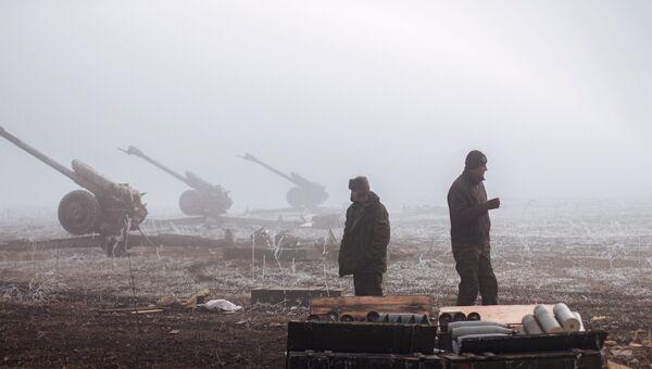 Ополченцы ДНР в окрестностях Дебальцево