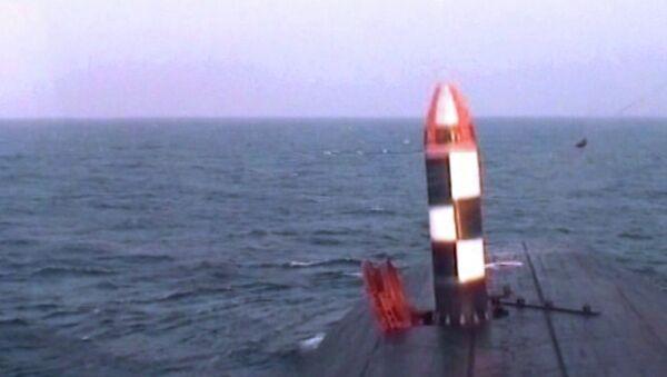 Испытания межконтинентальной баллистической ракеты Булава. Архивное фото