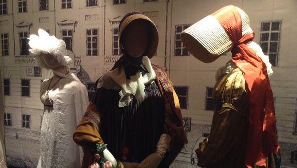 Экспозиция выставки Мода пушкинской эпохи в Государственном музее А.С. Пушкина