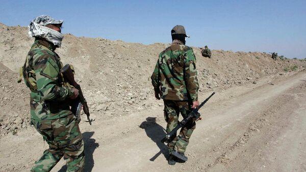 Иракские военные в ходе операции против боевиков Исламского государства