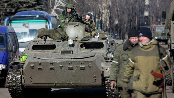 Ополченцы ДНР в Дебальцево 23 февраля 2015