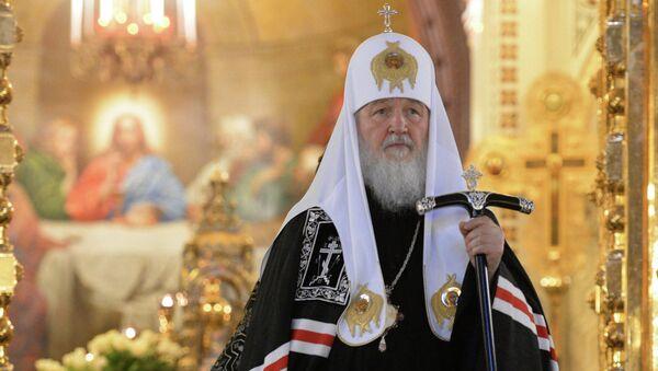 Патриарх Московский и всея Руси Кирилл в храме Христа Спасителя. Архивное фото