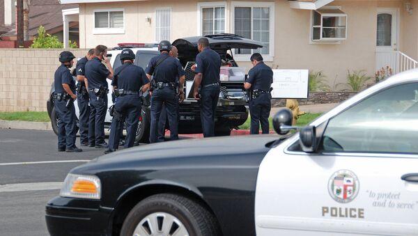 Сотрудники полиции на улице в Лос-Анджелесе, США. Архивное фото