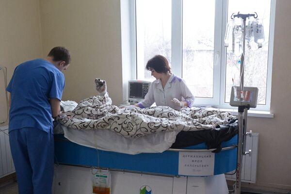 Пострадавшие от взрыва на шахте им. Засядько в Донецке