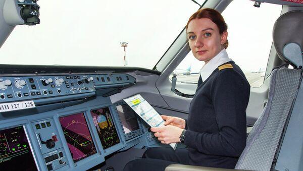 Пилот SSJ-100 Дарья Синичкина