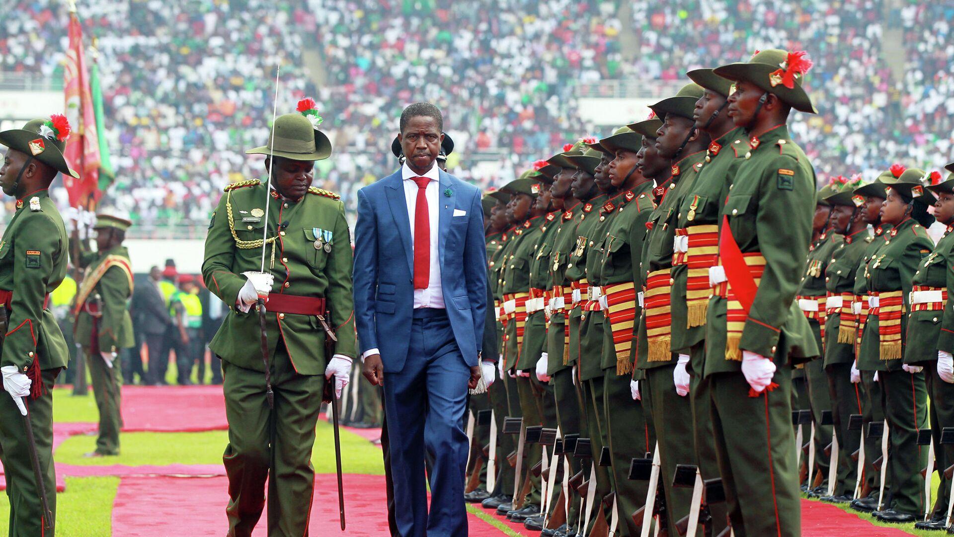 Президент Замбии Эдгар Лунгу. Январь 2015 год - РИА Новости, 1920, 14.06.2021