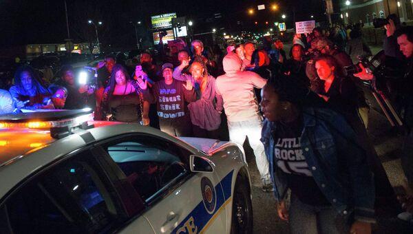 Акции протеста в Фергюсоне, США. 12 марта 2015