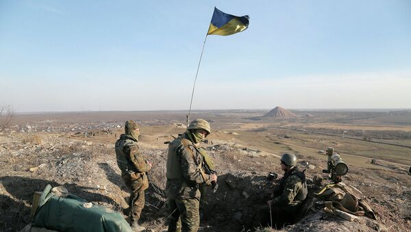 Украинские военные в Донецкой области. Март 2015. Архивное фото.
