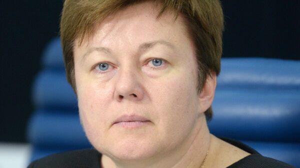 Член Совета Федерации Ольга Тимофеева на пресс-конференции